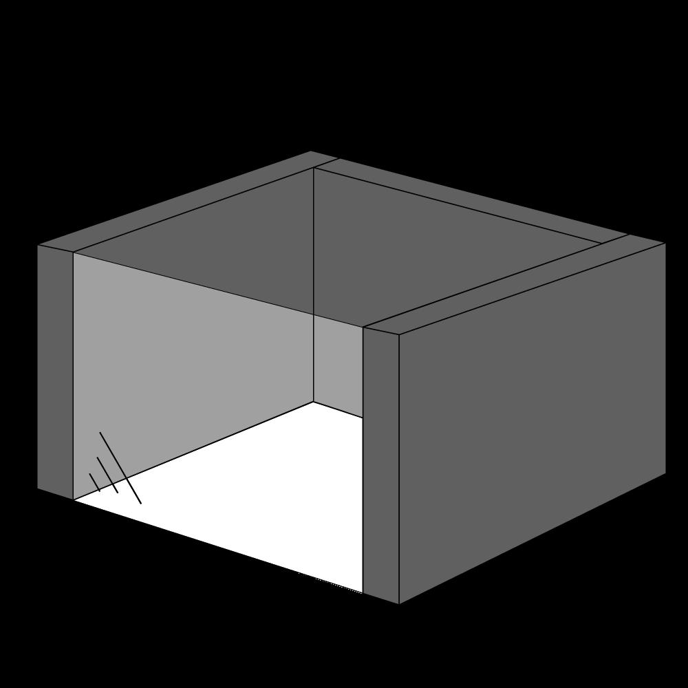 Gaspejs med 1 side