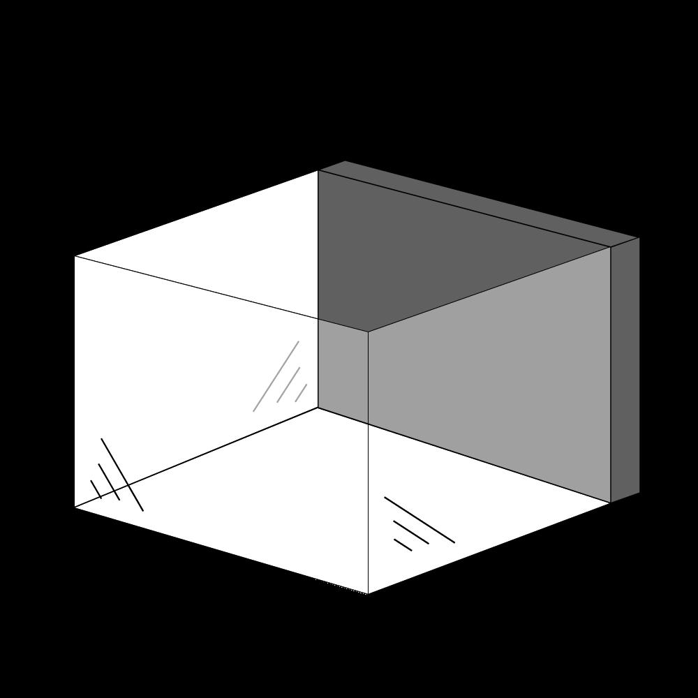 Gaspejs med 3 sider