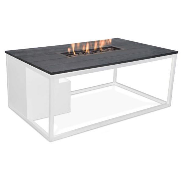 Cosiloft Loungebord med gasbrænder 120x80x47 – hvid/sort
