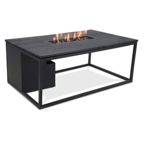 Cosiloft Loungebord med gasbrænder 120x80x47 – sort/sort